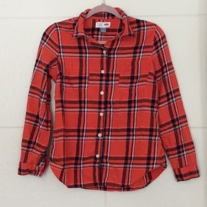 Red Flannel Shirt From Old Navy